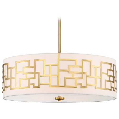 George Kovacs Lighting George Kovacs Alecia's Necklace Honey Gold Pendant Light with Drum Shade P197-248