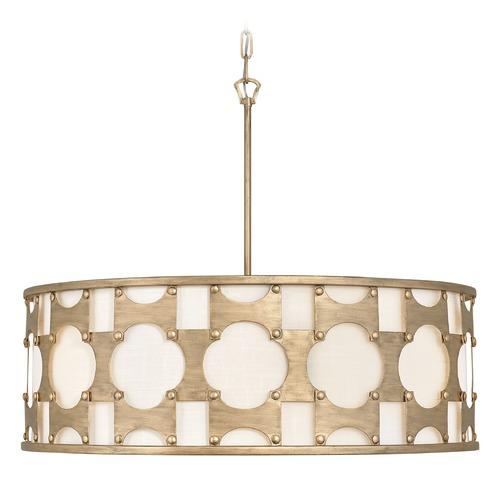 Hinkley Drum Lighting: Hinkley Lighting Carter Burnished Gold Pendant Light With