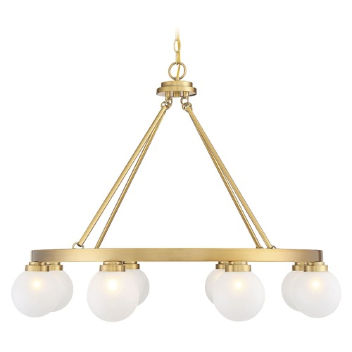 Savoy House Savoy House Lighting Avery Warm Brass Chandelier 1-1841-8-322