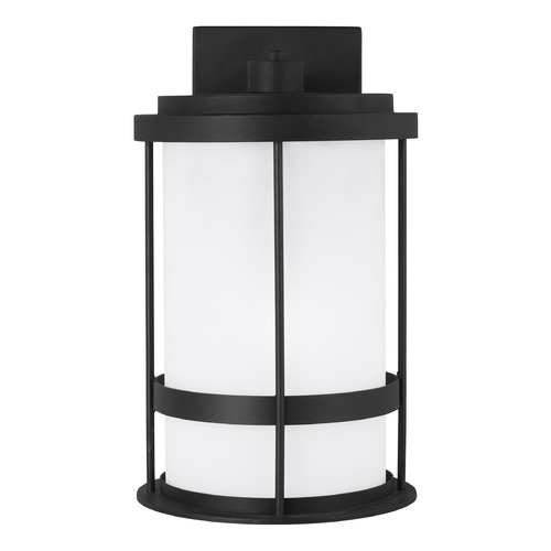 Sea Gull Lighting Sea Gull Lighting Wilburn Black Outdoor Wall Light 8690901-12