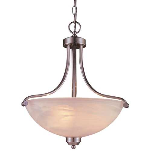 Minka Lavery Energy Star 3-Lt Pendant - Etched Marble Glass 1426-84-PL