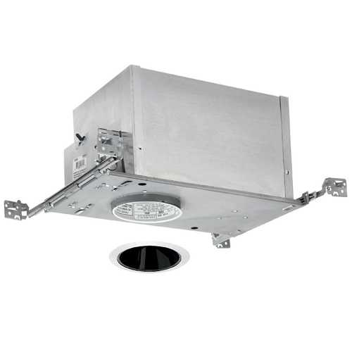 Juno Lighting Group 4-inch Low-Voltage Recessed Lighting Kit with Black Trim IC44N/447B-WH