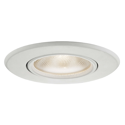 Recesso Lighting by Dolan Designs Adjustable Gimbal White PAR30 Trim for 5-Inch Recessed Housings T510W-WH