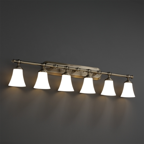 Justice Design Group Justice Design Group Clouds Collection Bathroom Light CLD-8526-20-ABRS