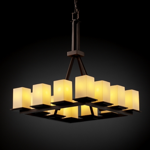 Justice Design Group Justice Design Group Fusion Collection Chandelier FSN-8663-15-OPAL-DBRZ