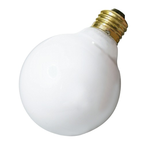 Satco Lighting Incandescent G25 Light Bulb Medium Base 120V by Satco S3441