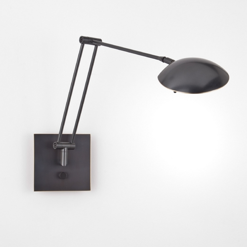 Holtkoetter Lighting Holtkoetter Modern Swing Arm Lamp in Hand-Brushed Old Bronze Finish 8193 HBOB