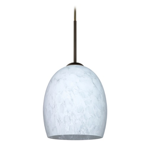 Besa Lighting Besa Lighting Lucia Bronze LED Mini-Pendant Light with Bell Shade 1JT-169719-LED-BR