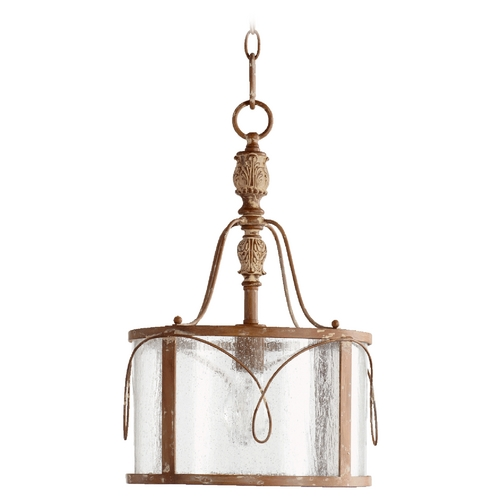 Quorum Lighting Quorum Lighting Salento French Umber Pendant Light with Drum Shade 3506-94
