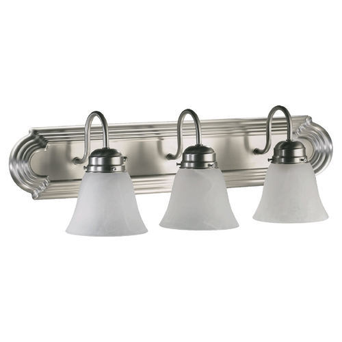 Quorum Lighting Quorum Lighting Satin Nickel Bathroom Light 5094-3-165