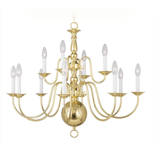 Livex Lighting Livex Lighting Williamsburg Polished Brass Chandelier 5014-02