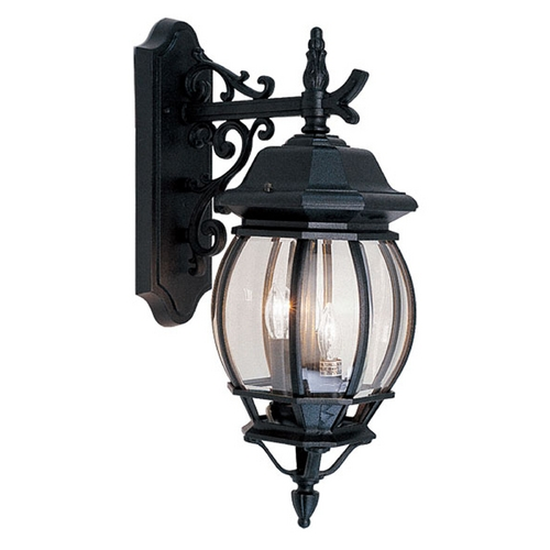 Livex Lighting Livex Lighting Frontenac Black Outdoor Wall Light 7707-04