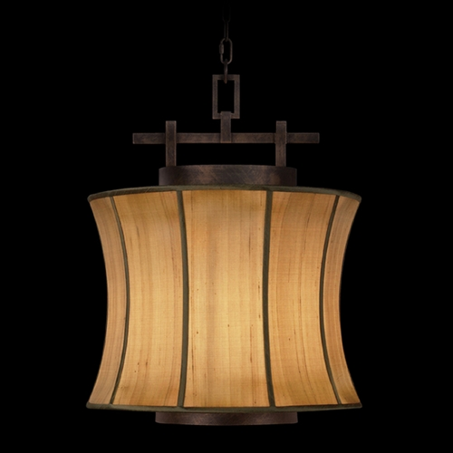 Fine Art Lamps Fine Art Lamps Fusion Oxidized Bronze Patina Pendant Light with Drum Shade 233449ST