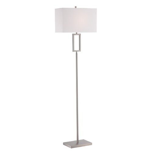 Lite Source Lighting Lite Source Lighting Fiadi Polished Steel Floor Lamp with Rectangle Shade LS-82638