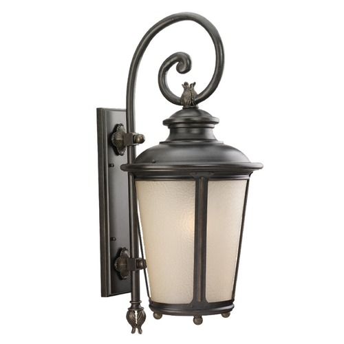 Sea Gull Lighting Sea Gull Lighting Cape May Burled Iron LED Outdoor Wall Light 8824391S-780