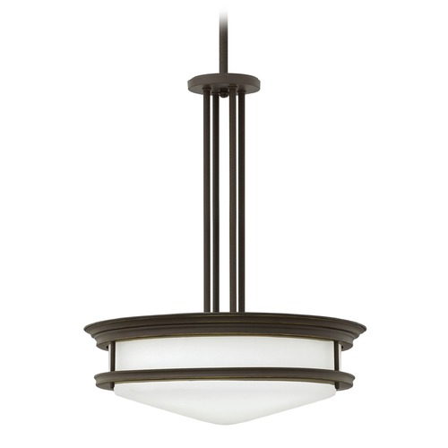 Hinkley Lighting Hinkley Lighting Hadley Oil Rubbed Bronze Pendant Light with Bowl / Dome Shade 3305OZ-GU24