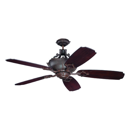 Craftmade Lighting Craftmade Lighting Wellington Xl Aged Bronze Textured Ceiling Fan with Light K11064