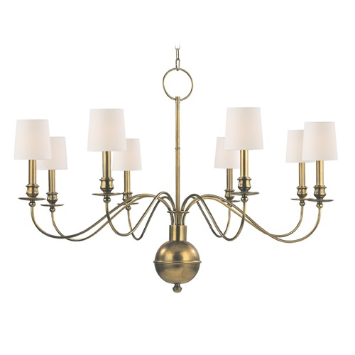 Hudson Valley Lighting Hudson Valley Lighting Cohasset Aged Brass Chandelier 8218-AGB