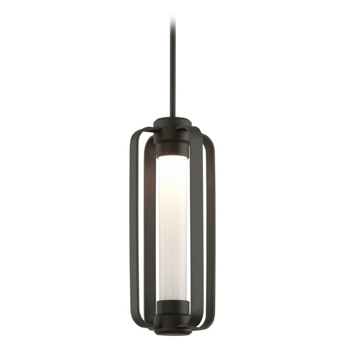 Troy Lighting Seeded Opal Glass LED Outdoor Hanging Light Bronze Troy Lighting FL4937-C
