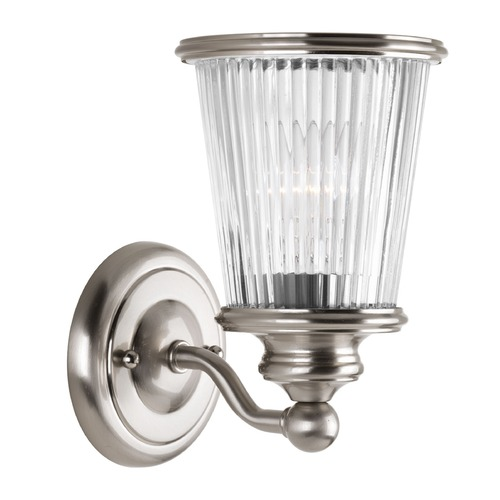 Progress Lighting Progress Lighting Radiance Brushed Nickel Sconce P2169-09