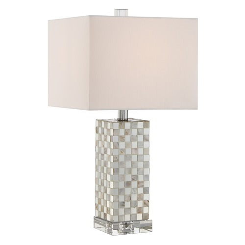 Quoizel Lighting Quoizel Lighting Quoizel Portable Lamp Polished Chrome Table Lamp with Square Shade Q2610T