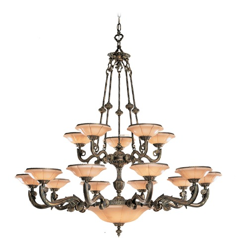 Crystorama Lighting Crystorama Lighting Natural Alabaster Bronze Chandeliers with Center Bowl 879-BZ