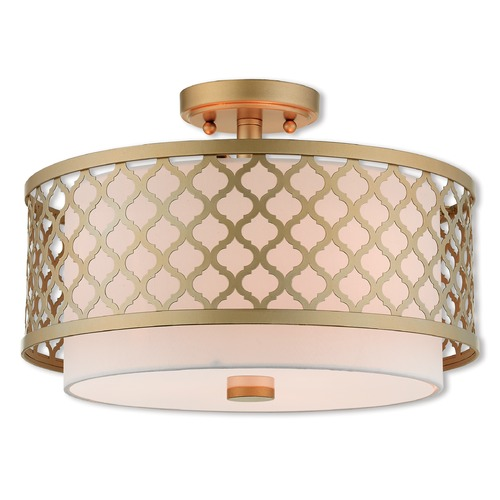 Livex Lighting Livex Lighting Arabesque Soft Gold Semi-Flushmount Light 41108-33