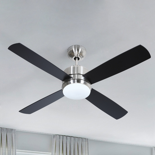 Craftmade Lighting 44-Inch Brushed Nickel Ceiling Fan with LED Light 3000K 1200LM MN44BNK4-LED-UCI