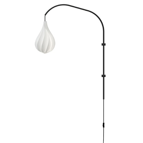 UMAGE UMAGE Black Wall Lamp with White Polycarbonate Shade 2102_4133