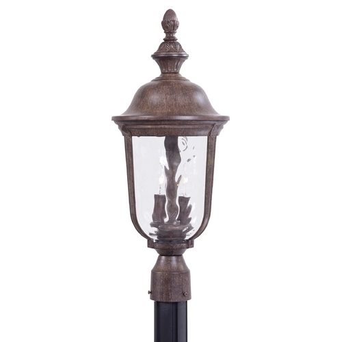 Minka Lavery Post Light with Clear Glass in Vintage Rust Finish 8995-61