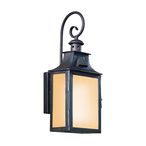 Troy Lighting Outdoor Wall Light with Beige / Cream Glass in Old Bronze Finish BF9001OBZ