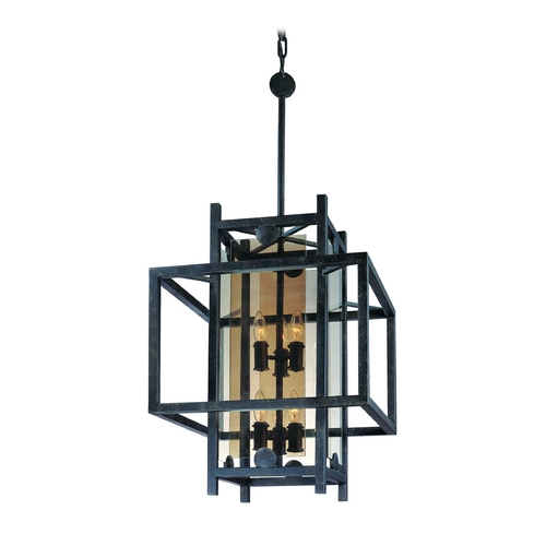 Troy Lighting Pendant Light with Clear Cage Shades in French Iron Finish F2494FI
