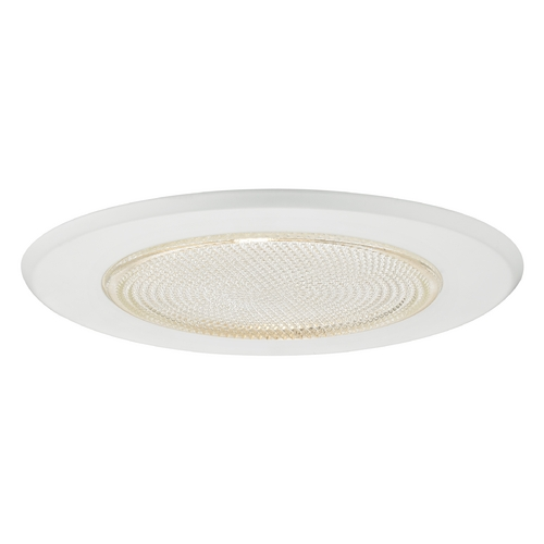 Recesso Lighting by Dolan Designs White Fresnel Shower Trim for 5-Inch Recessed Housings T508-WH