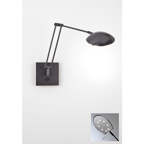Holtkoetter Lighting Holtkoetter Modern LED Swing Arm Lamp in Hand-Brushed Old Bronze Finish 8193LED HBOB