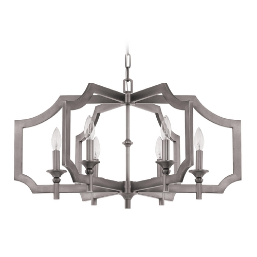 Jeremiah Lighting Jeremiah Lighting Lisbon Antique Nickel Chandelier 37326-AN