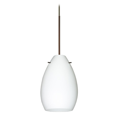 Besa Lighting Besa Lighting Pera Bronze LED Mini-Pendant Light with Oblong Shade 1XT-171307-LED-BR