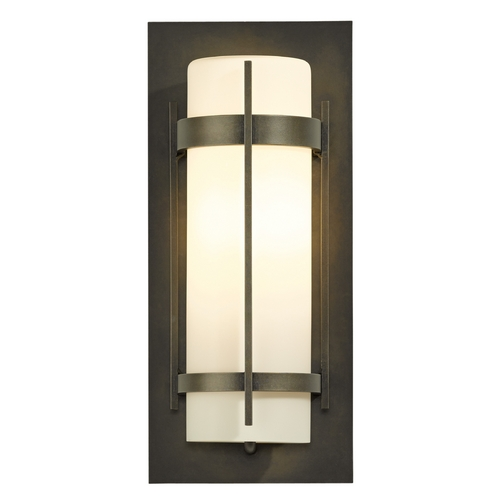 Hubbardton Forge Lighting Hubbardton Forge Lighting Banded Dark Smoke Outdoor Wall Light 305893-07-G34