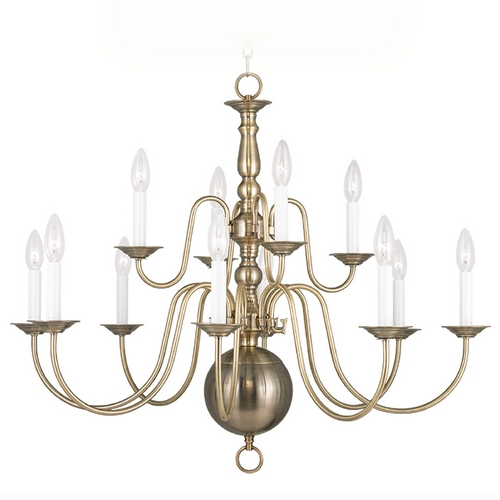 Livex Lighting Livex Lighting Williamsburg Antique Brass Chandelier 5014-01