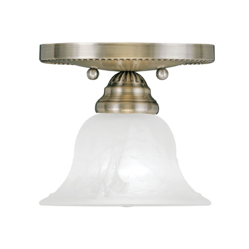 Livex Lighting Livex Lighting Edgemont Antique Brass Semi-Flushmount Light 1530-01
