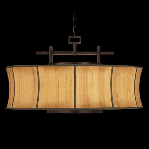 Fine Art Lamps Fine Art Lamps Fusion Oxidized Bronze Patina Pendant Light with Drum Shade 233540ST