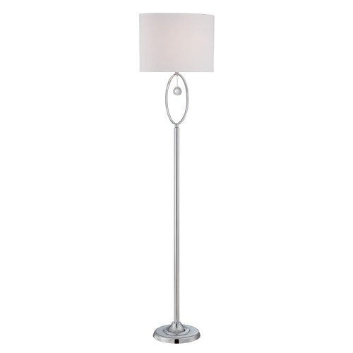 Lite Source Lighting Lite Source Lighting Joya Chrome Floor Lamp with Oval Shade LS-82639