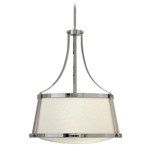 Hinkley Lighting Hinkley Lighting Charlotte Chrome Pendant Light with Conical Shade 3524CM