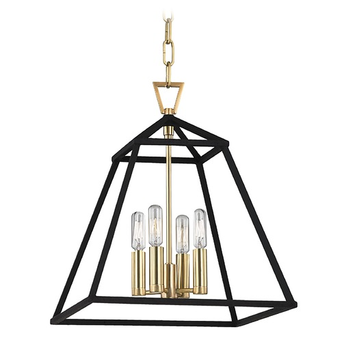 Hudson Valley Lighting Webster 4 Light Pendant Light - Aged Brass 4914-AGB