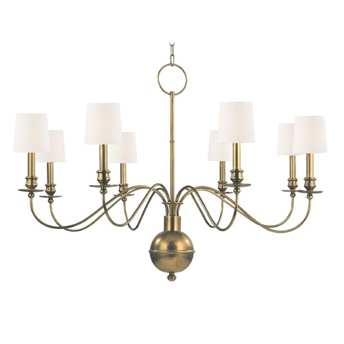 Hudson Valley Lighting Hudson Valley Lighting Cohasset Aged Brass Chandelier 8218-AGB-WS