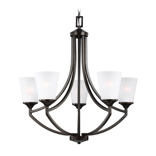 Sea Gull Lighting Sea Gull Lighting Hanford 5-Light Chandelier in Burnt Sienna 3124505-710