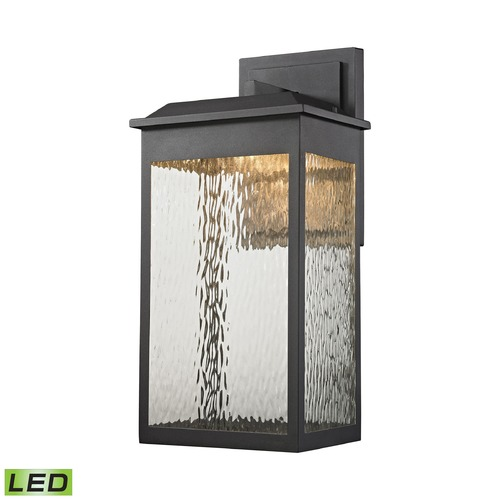 Elk Lighting Elk Lighting Newcastle Textured Matte Black LED Outdoor Wall Light 45202/LED