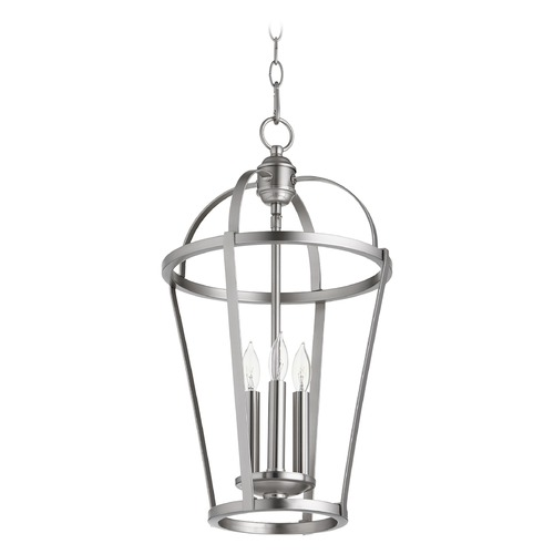 Quorum Lighting Quorum Lighting Satin Nickel Pendant Light 6734-3-65