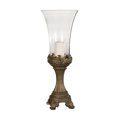 Uttermost Lighting Candle Holder in Grey Patina Finish 19475