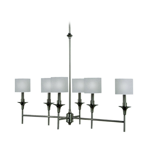 Sea Gull Lighting Drum Island Light with White Shades in Brushed Nickel Finish 66953-962