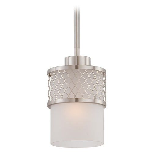 Nuvo Lighting Modern Mini-Pendant Light with White Shade 60/4688